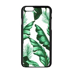 Banana Leaves And Fruit Isolated With Four Pattern Apple Iphone 6/6s Black Enamel Case by Celenk