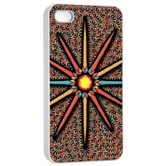 Star Apple Iphone 4/4s Seamless Case (white) by linceazul