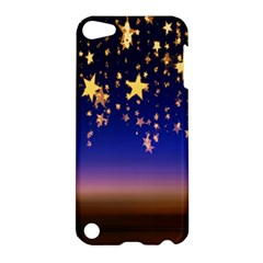 Christmas Background Star Curtain Apple Ipod Touch 5 Hardshell Case by Celenk