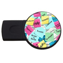 Stickies Post It List Business Usb Flash Drive Round (2 Gb) by Celenk
