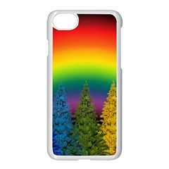 Christmas Colorful Rainbow Colors Apple Iphone 8 Seamless Case (white) by Celenk