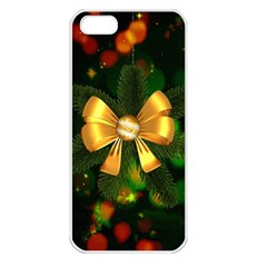 Christmas Celebration Tannenzweig Apple Iphone 5 Seamless Case (white) by Celenk