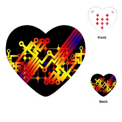 Board Conductors Circuits Playing Cards (heart)  by Celenk