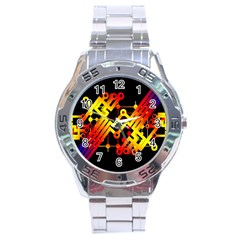 Board Conductors Circuits Stainless Steel Analogue Watch by Celenk