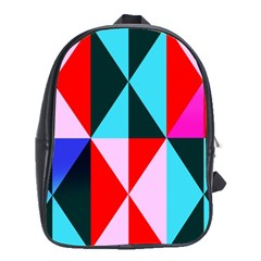 Geometric Pattern School Bag (xl) by Celenk