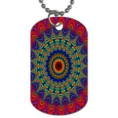 Kaleidoscope Mandala Pattern Dog Tag (one Side) by Celenk