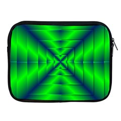 Shiny Lime Navy Sheen Radiate 3d Apple Ipad 2/3/4 Zipper Cases