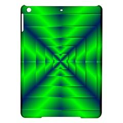 Shiny Lime Navy Sheen Radiate 3d Ipad Air Hardshell Cases by Celenk
