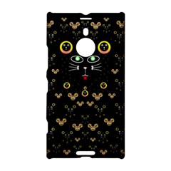 Merry Black Cat In The Night And A Mouse Involved Pop Art Nokia Lumia 1520 by pepitasart