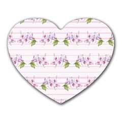 Floral Pattern Heart Mousepads by SuperPatterns