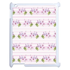 Floral Pattern Apple Ipad 2 Case (white) by SuperPatterns