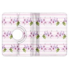 Floral Pattern Kindle Fire Hdx Flip 360 Case by SuperPatterns