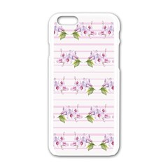 Floral Pattern Apple Iphone 6/6s White Enamel Case by SuperPatterns