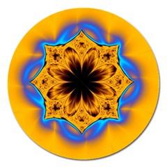 Digital Art Fractal Artwork Flower Magnet 5  (round) by Celenk