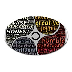 Person Character Characteristics Oval Magnet by Celenk