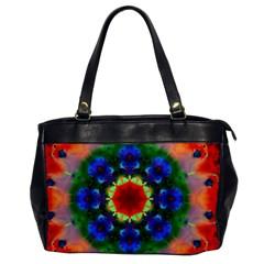 Fractal Digital Mandala Floral Office Handbags by Celenk