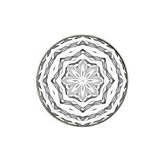 Mandala Pattern Floral Hat Clip Ball Marker (10 Pack) by Celenk