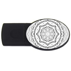 Mandala Pattern Floral Usb Flash Drive Oval (4 Gb) by Celenk