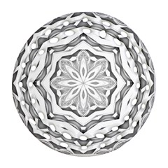 Mandala Pattern Floral Round Filigree Ornament (two Sides) by Celenk