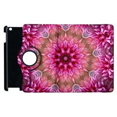Flower Mandala Art Pink Abstract Apple Ipad 3/4 Flip 360 Case by Celenk