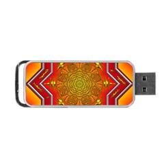 Mandala Zen Meditation Spiritual Portable Usb Flash (one Side) by Celenk