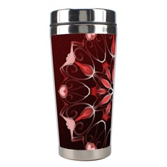 Mandala Red Bright Kaleidoscope Stainless Steel Travel Tumblers by Celenk