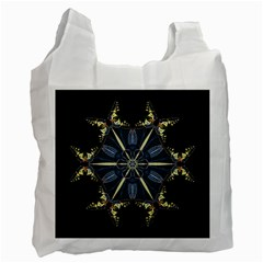 Mandala Butterfly Concentration Recycle Bag (one Side) by Celenk