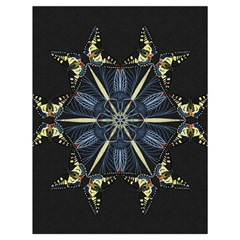 Mandala Butterfly Concentration Drawstring Bag (large) by Celenk