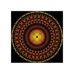 Mandala Psychedelic Neon Acrylic Tangram Puzzle (4  X 4 ) by Celenk