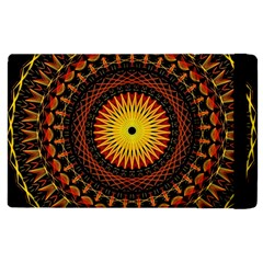Mandala Psychedelic Neon Apple Ipad 2 Flip Case by Celenk