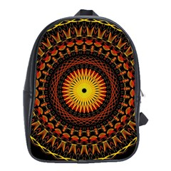 Mandala Psychedelic Neon School Bag (xl) by Celenk