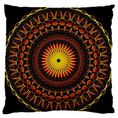 Mandala Psychedelic Neon Standard Flano Cushion Case (two Sides) by Celenk