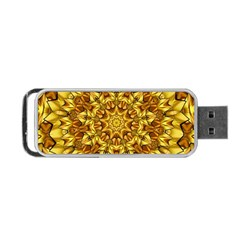Abstract Antique Art Background Portable Usb Flash (one Side) by Celenk