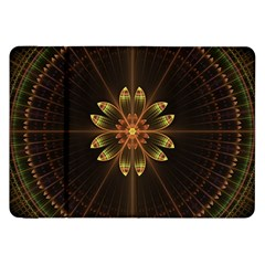 Fractal Floral Mandala Abstract Samsung Galaxy Tab 8 9  P7300 Flip Case by Celenk
