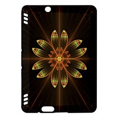 Fractal Floral Mandala Abstract Kindle Fire Hdx Hardshell Case by Celenk