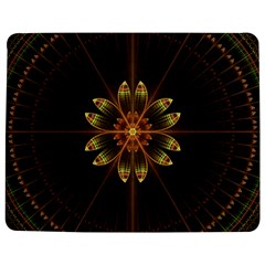 Fractal Floral Mandala Abstract Jigsaw Puzzle Photo Stand (rectangular) by Celenk
