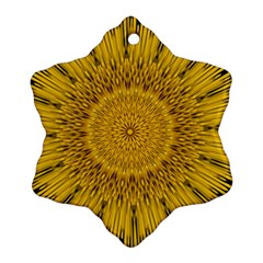 Pattern Petals Pipes Plants Snowflake Ornament (two Sides) by Celenk