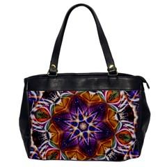 Kaleidoscope Pattern Kaleydograf Office Handbags by Celenk