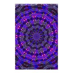 Purple Kaleidoscope Mandala Pattern Shower Curtain 48  X 72  (small)  by Celenk