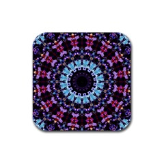 Kaleidoscope Shape Abstract Design Rubber Square Coaster (4 Pack)  by Celenk