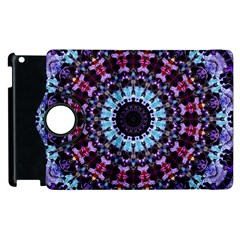 Kaleidoscope Shape Abstract Design Apple Ipad 2 Flip 360 Case by Celenk