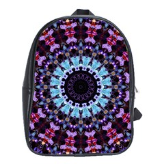 Kaleidoscope Shape Abstract Design School Bag (xl) by Celenk