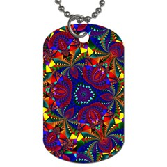 Kaleidoscope Pattern Ornament Dog Tag (two Sides) by Celenk