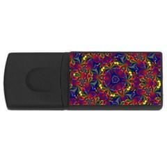 Kaleidoscope Pattern Ornament Rectangular Usb Flash Drive by Celenk