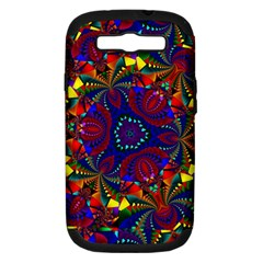 Kaleidoscope Pattern Ornament Samsung Galaxy S Iii Hardshell Case (pc+silicone)