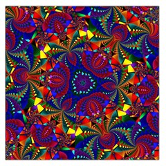 Kaleidoscope Pattern Ornament Large Satin Scarf (square) by Celenk