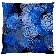 Circle Rings Abstract Optics Large Flano Cushion Case (two Sides) by Celenk