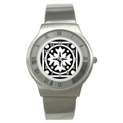 Mandala Pattern Mystical Stainless Steel Watch by Celenk