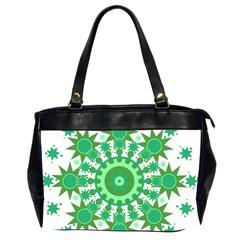 Mandala Geometric Pattern Shapes Office Handbags (2 Sides)  by Celenk