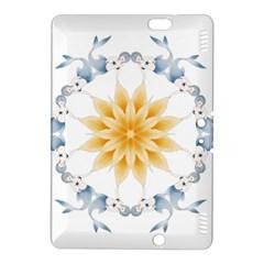 Mandala Mermaid Lake Rose Swimmers Kindle Fire Hdx 8 9  Hardshell Case by Celenk